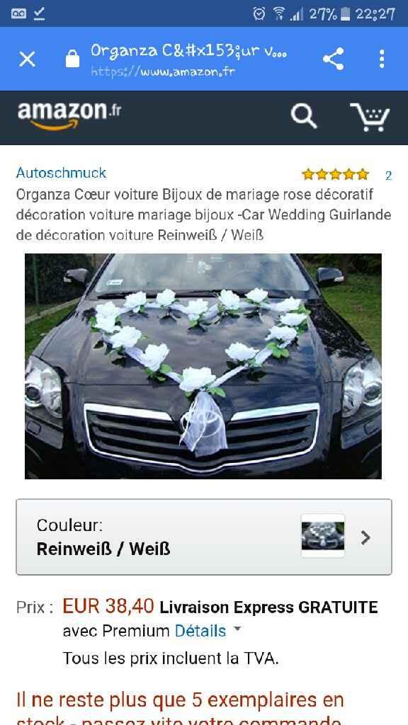 Deco voiture des mariés - 1