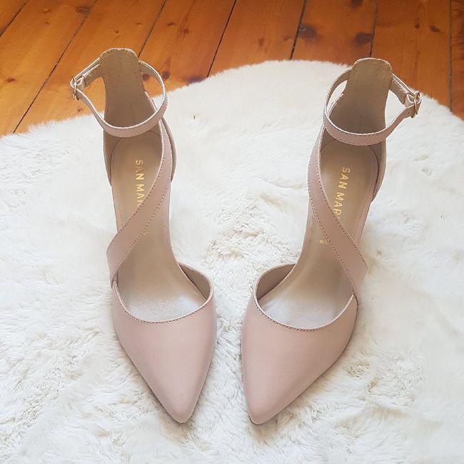 Chaussures mariée rose poudrée 6