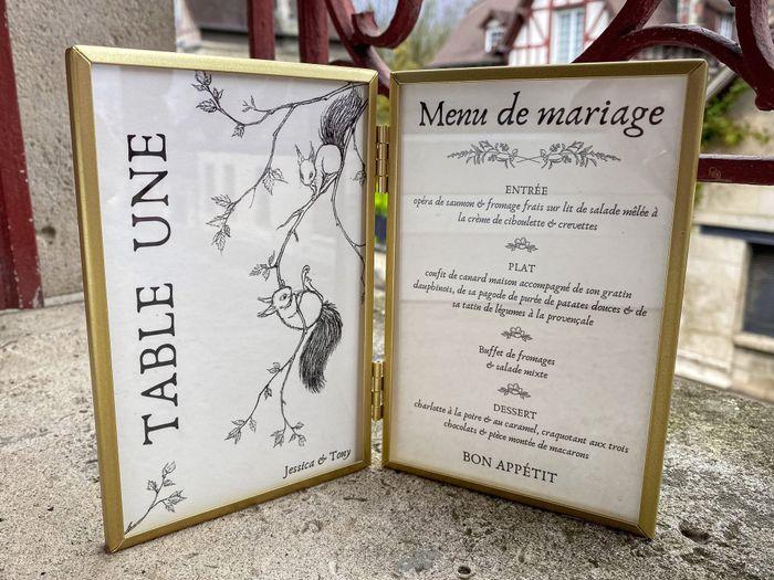 Numéros de table / menus 2