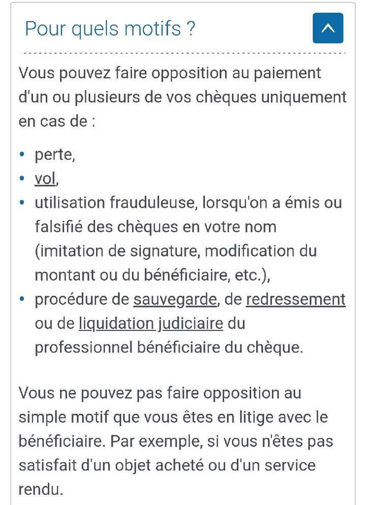 Opposition sur chèque ⚠️⚠️ - 1