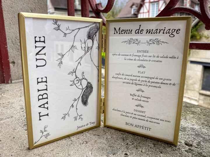 Numéros de table / menus - 2