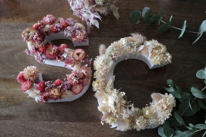 Diy Lettres fleurs séchées 1