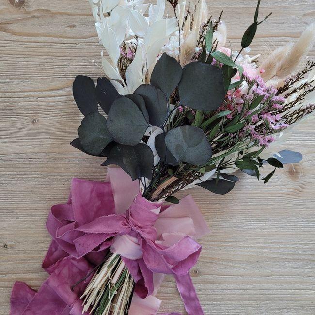 Bouquet Mariée Fleurs séchées 💐 Touche finale 1