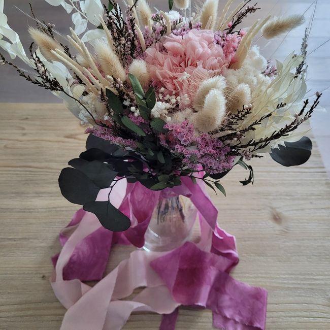 Bouquet Mariée Fleurs séchées 💐 Touche finale 2