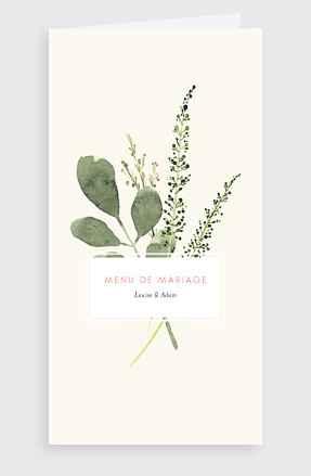 Le menu de votre mariage - 1