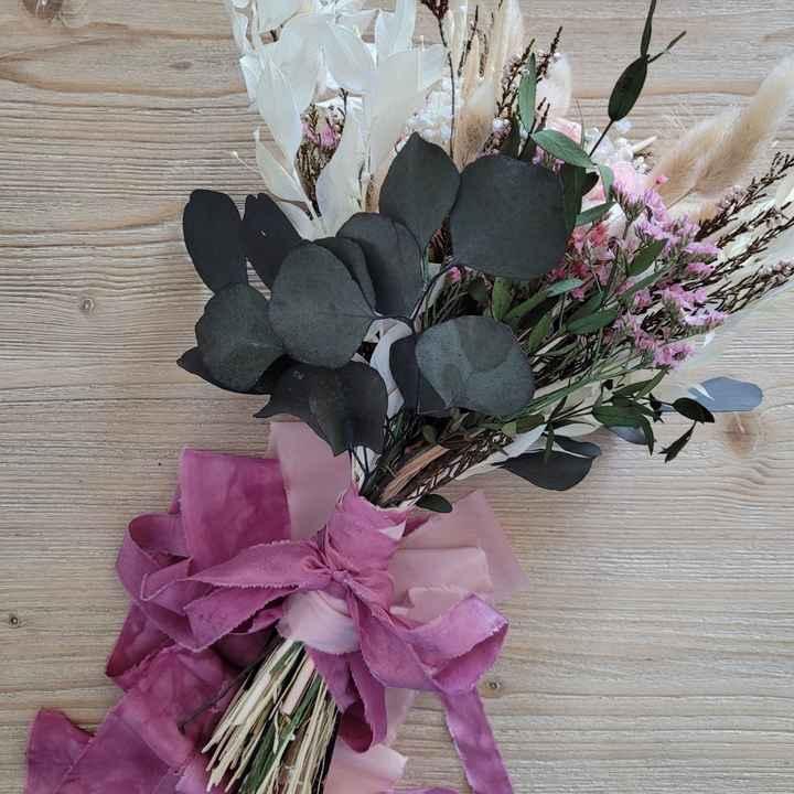 Bouquet Mariée Fleurs séchées 💐 Touche finale - 1