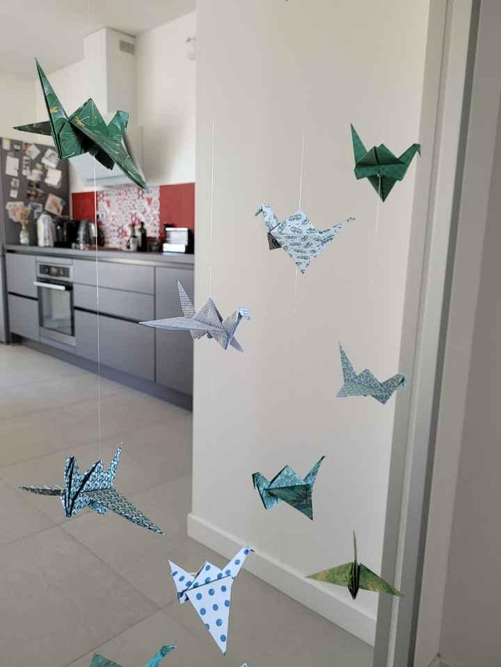 Guirlandes origami - 2
