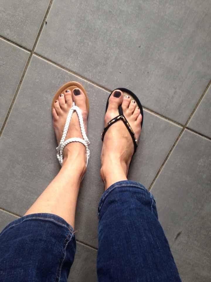 Vos chaussures plates et ouvertes de mariée (pas celles du soir) - 1