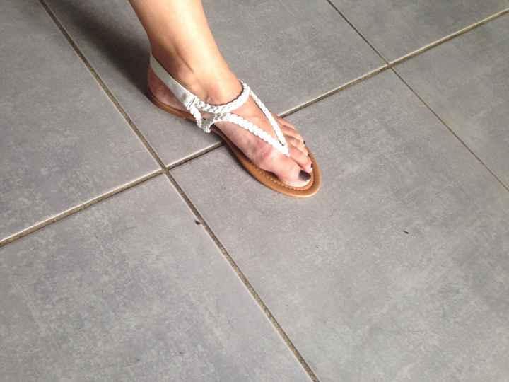 Vos chaussures plates et ouvertes de mariée (pas celles du soir) - 2
