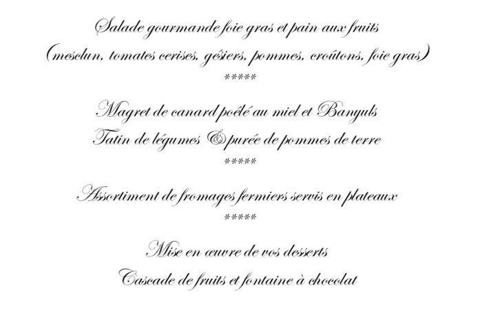Le menu de ton mariage !  🍽️ 7