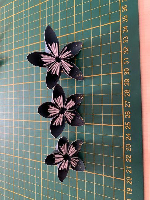 Bouquet à jeter en origami 4