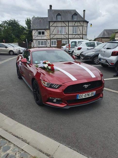 Voiture des mariés ! Ford mustang