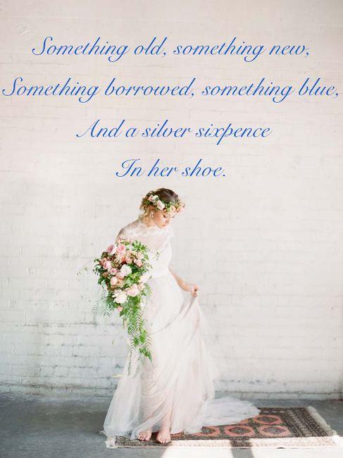 """Something old, something new, something borrowed, something blue..."" - un quizz :-) 1"