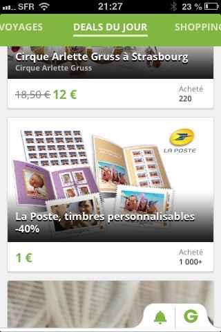 Vente de timbres personnalisé sur groupon - 1