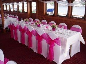Mariage fushia et blanc d coration forum - Set de table rond fushia ...