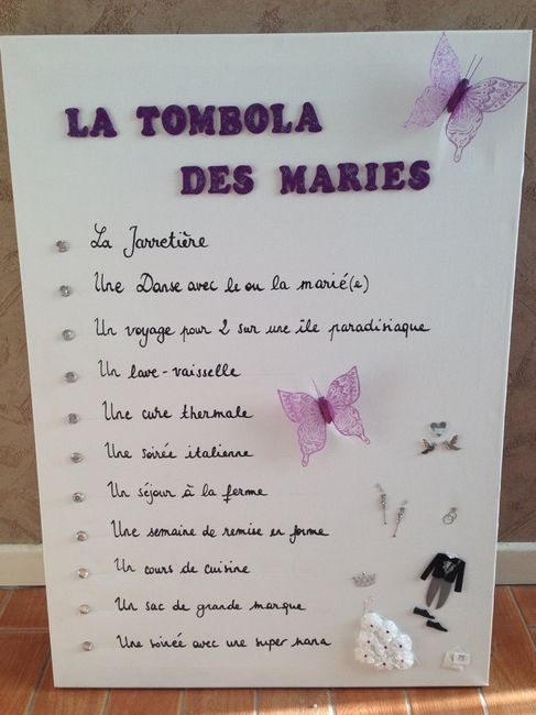 tombola des mari s mes lots page 6 organisation du mariage forum. Black Bedroom Furniture Sets. Home Design Ideas