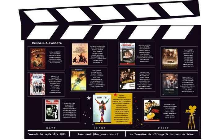 Plan de table thème cinéma - 1
