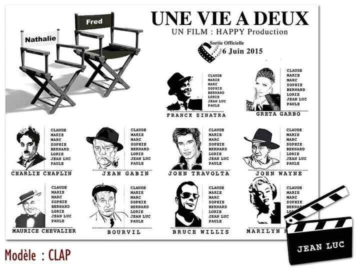 Plan de table thème cinéma - 3