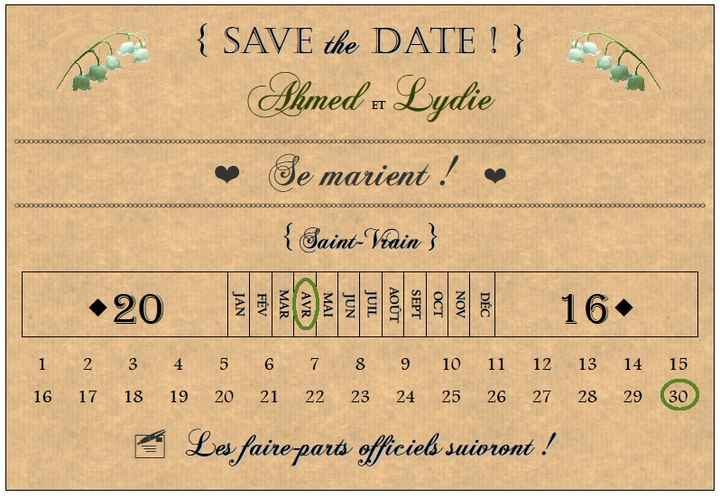 Nos save the date