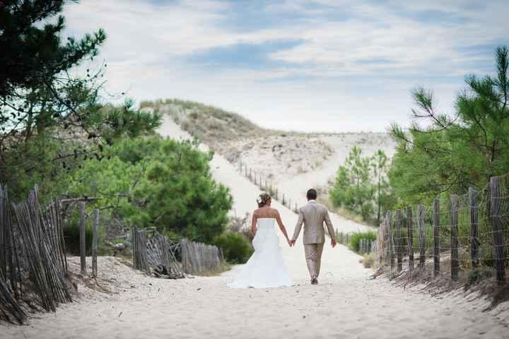 Photos de couple chez nous à la plage