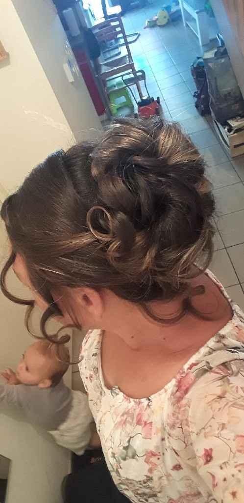 Essayage aujourd'hui de ma coiffure pour le jour j du mariage - 2