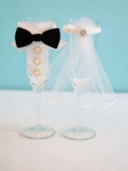 idée pour les coupes de champagne des marier