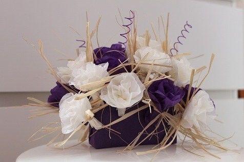 Fleur papier et centre de table d coration forum - Centre de table fleurs mariage pas cher ...
