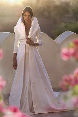 manteau mariée