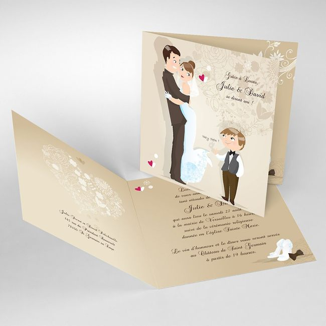 Idee Texte Faire Part Mariage Famille Recomposee Faire