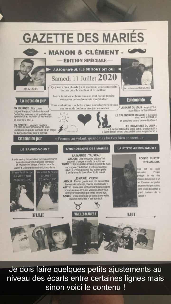Logiciel pour gazette des mariés - 1
