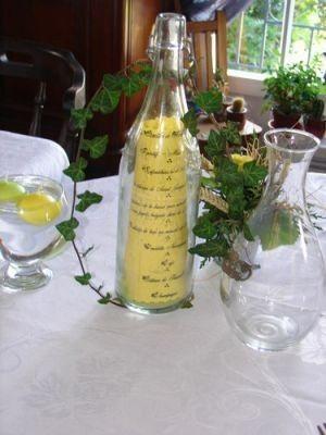 Mariage disney pirates des cara bes d coration forum - La bouteille sur la table ...