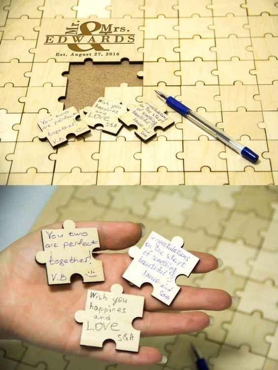Livre d'or puzzle