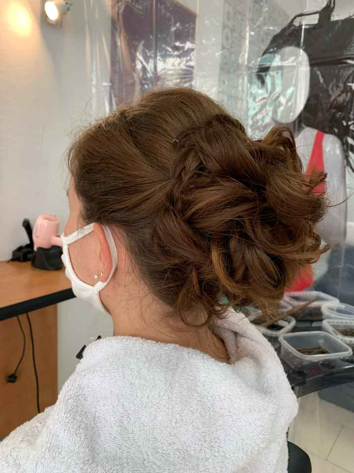 Essai coiffure trop contente 😉 - 1