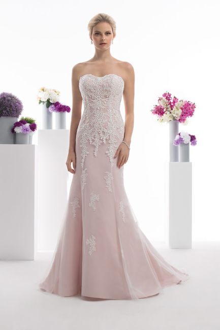 Robe de mariée rose 💕 1
