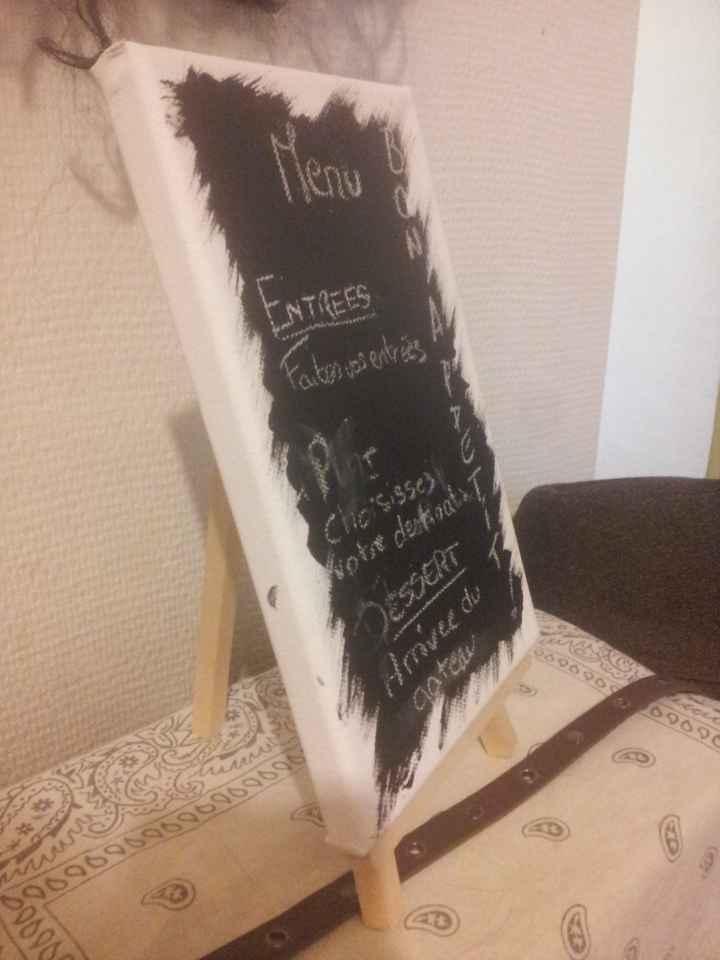 test menu sur table
