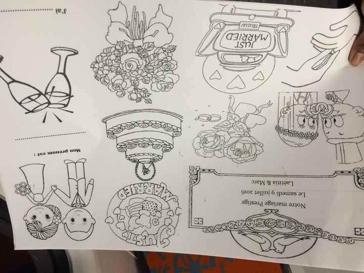 Sets de tables et coloriages pour enfants - 1