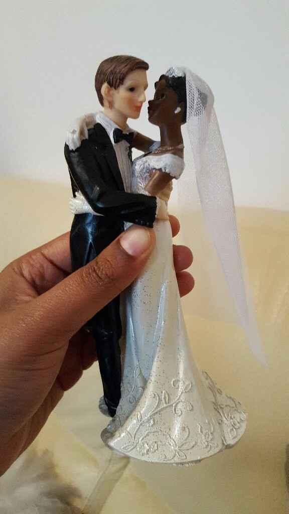Figurine mariés gateau - 1