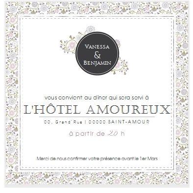 invitation repas photo organisation du mariage. Black Bedroom Furniture Sets. Home Design Ideas