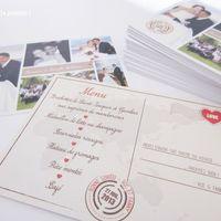 menu carte postal