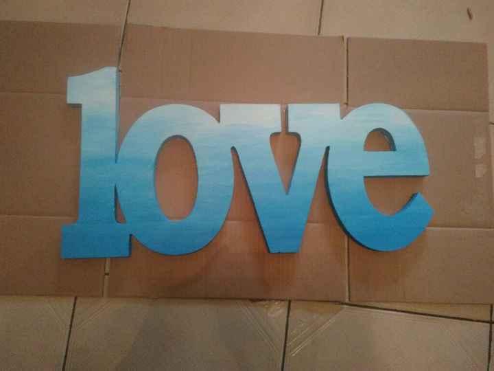 """Déco mot """"love"""" - 1"""