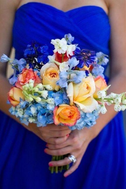 Bouquet de delphinium