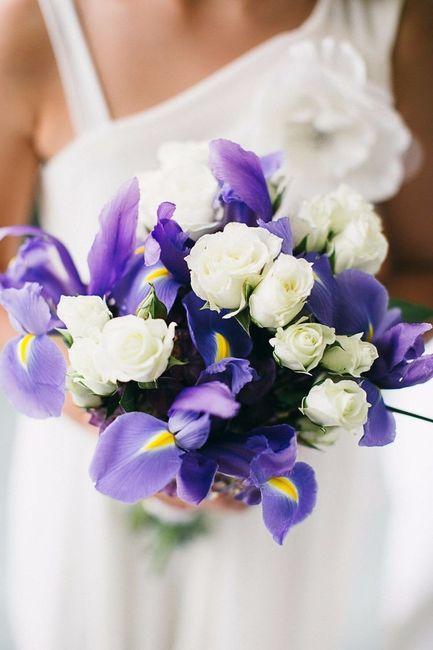 Bouquet avec des iris