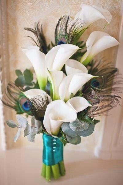 Bouquet de lys appelés aussi arum