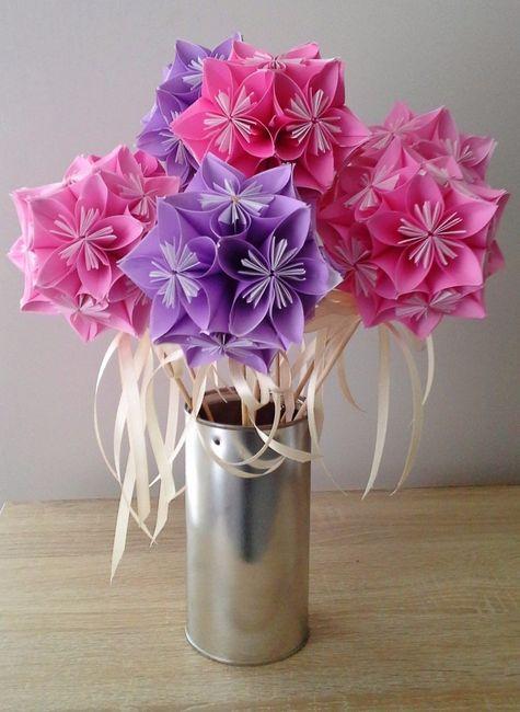 Voici le deuxième bouquet camaieu violet-rose