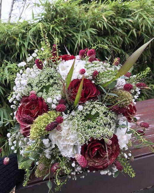 Mon tendre bouquet - thème champêtre bordeaux et doré
