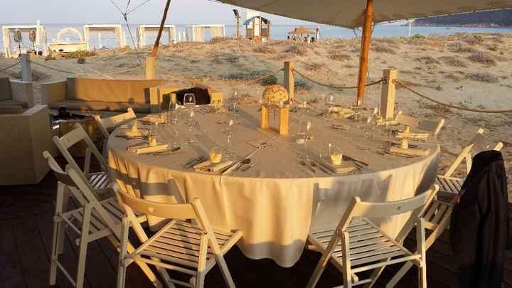 Table du resto de plage