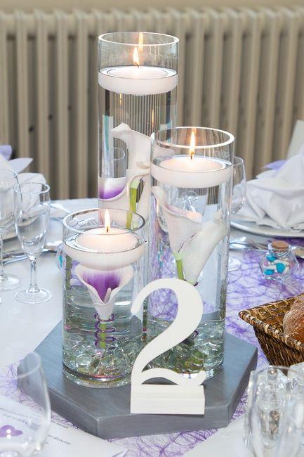 Fond de vase avec bougies flottantes 2