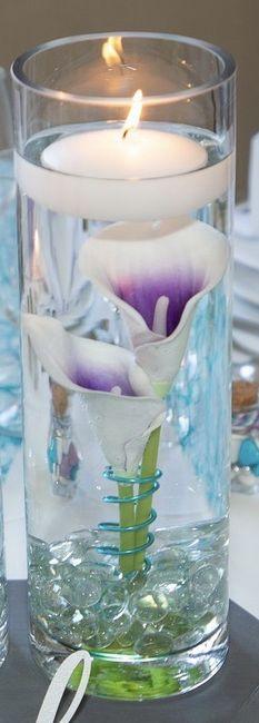 Fond de vase avec bougies flottantes 3