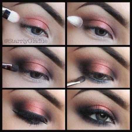 smoky eyes corail et marron