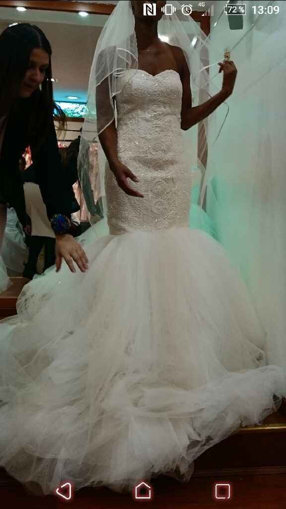 Ma robe et ma parure de chez etsy. trop heureuse. qu est-ce que vous en pensez ??? - 1